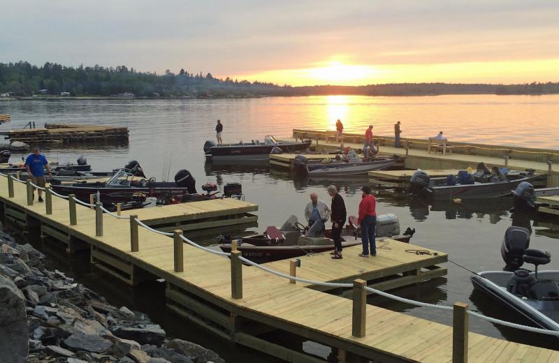 Dock at Driftwood Lodge Resort.