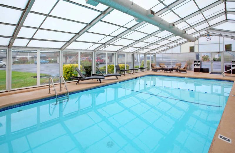 Indoor pool at Surfrider Resort.