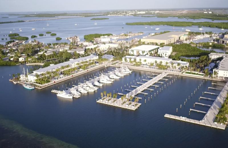 Aerial view of Oceans Edge Key West Resort & Marina.