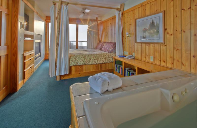 Luxury suite at Superior Shores Resort.