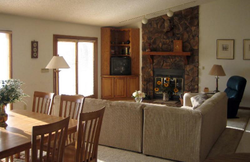 Vacation rental interior at Mallard Point Resort.