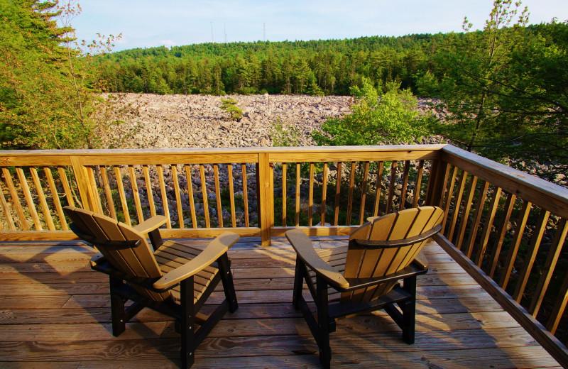 Balcony view at Pocono Mountain Rentals.
