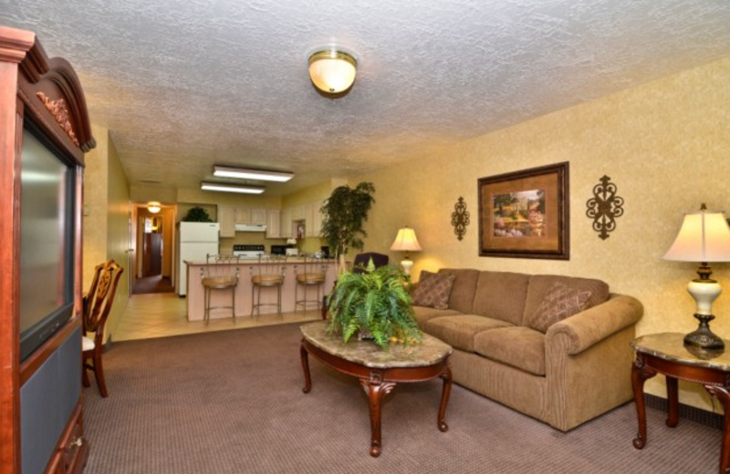 Living area at Abbey Inn