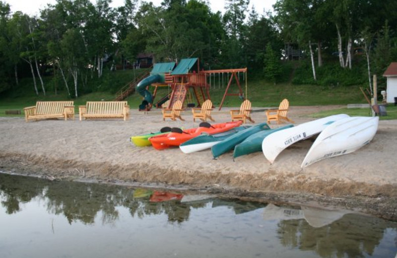 The beach at White Birch Resort.