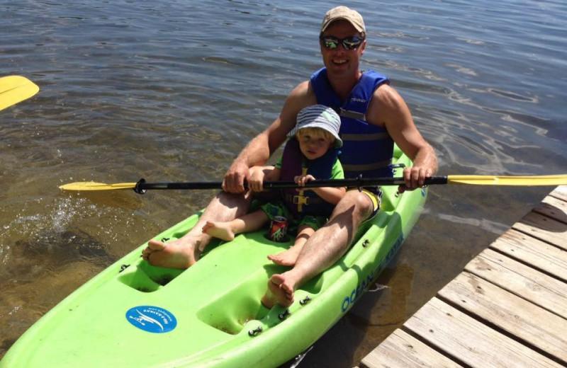 Kayaking at Twin Springs Resort.