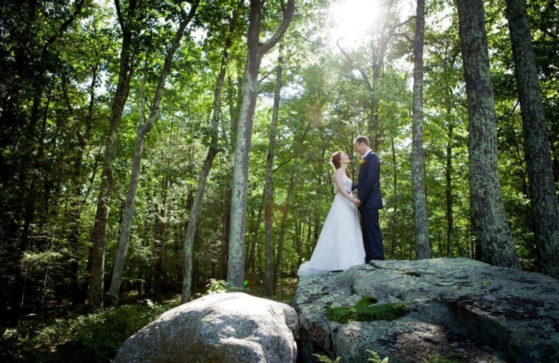Wedding couple at Minnewaska Lodge.