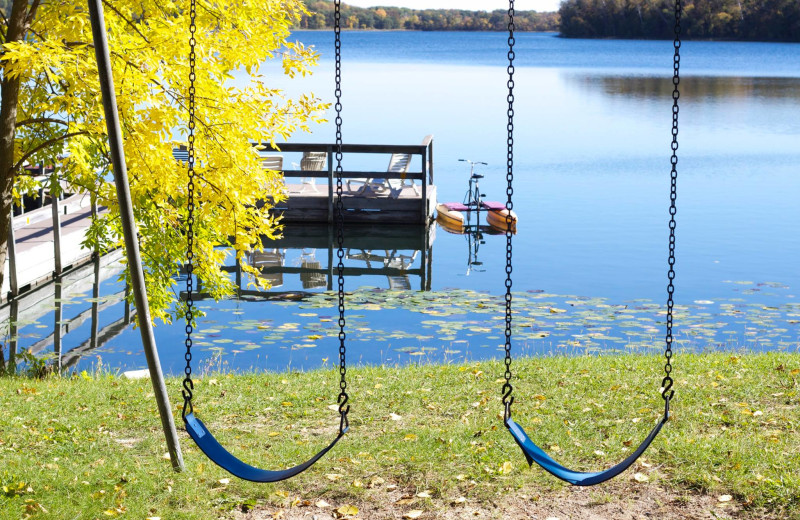 Swings at Five Lakes Resort.