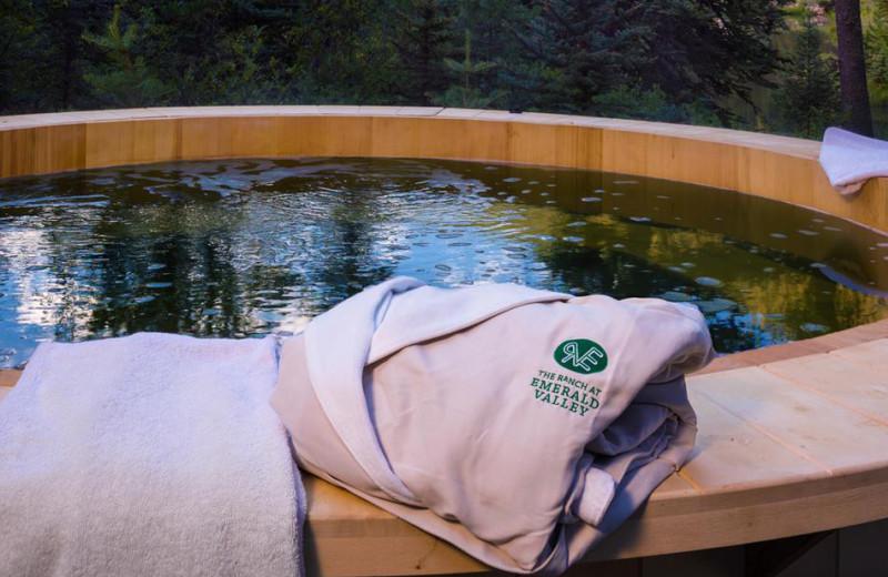 Hot tub at The Ranch at Emerald Valley.
