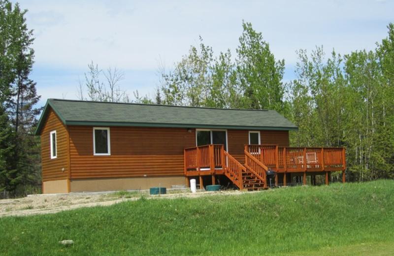 Cabin exterior at Kec's Kove Resort.