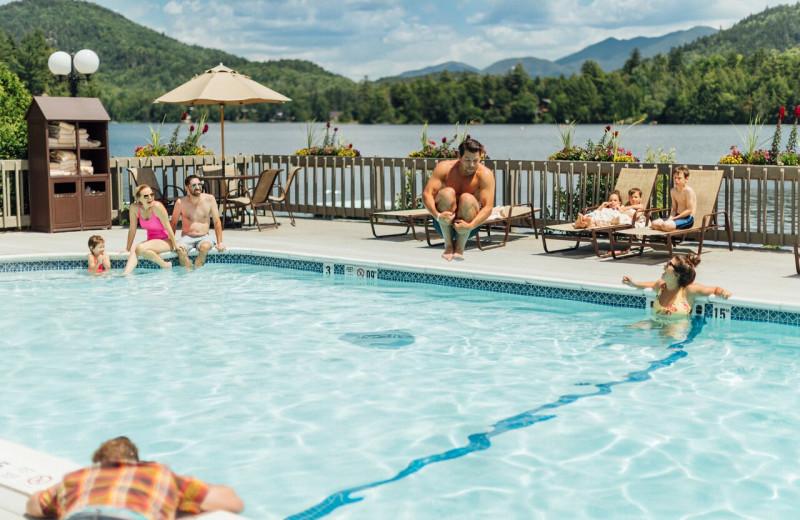 Outdoor pool at High Peaks Resort.