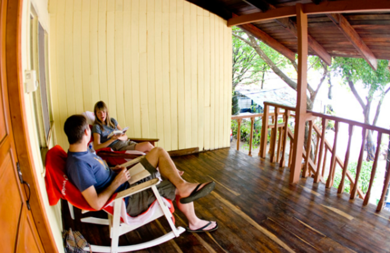 Porch at Hotel Brasilito.