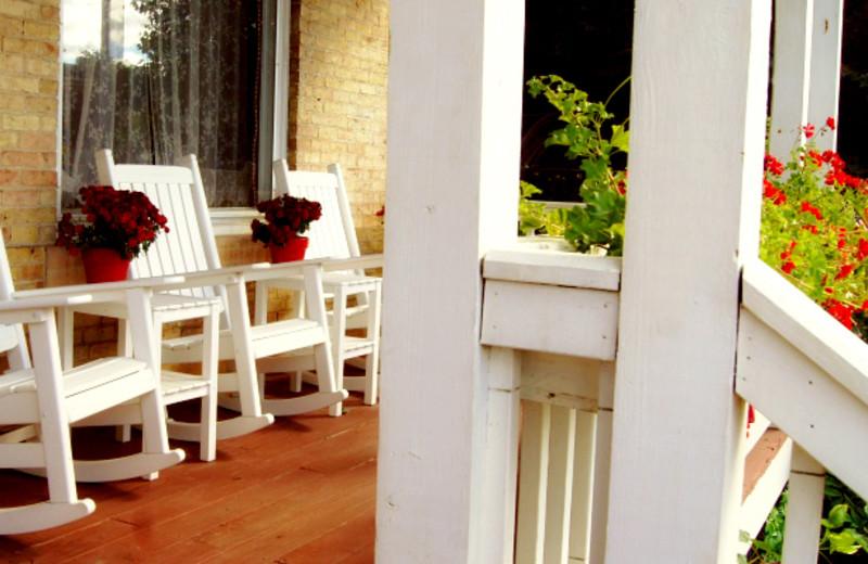 Porch at Nicolin Mansion Bed & Breakfast.