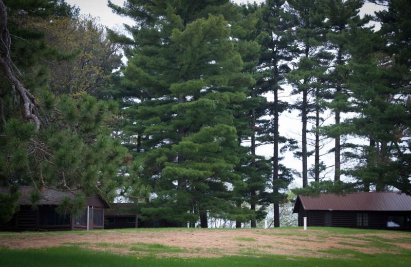 Cabin exterior at Sisko's Pine Point Resort.