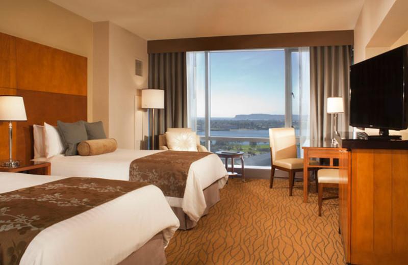 Double double premium room at Omni San Diego Hotel.