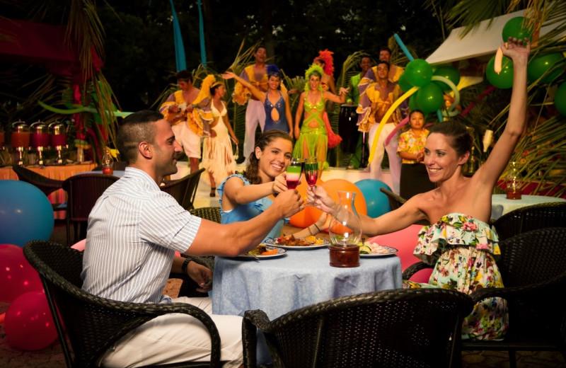 Dining at Sandos Playacar Riviera Hotel and Spa.