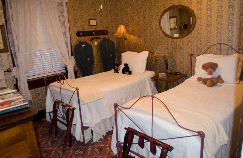 Guest room at 1859 Historic National Hotel.