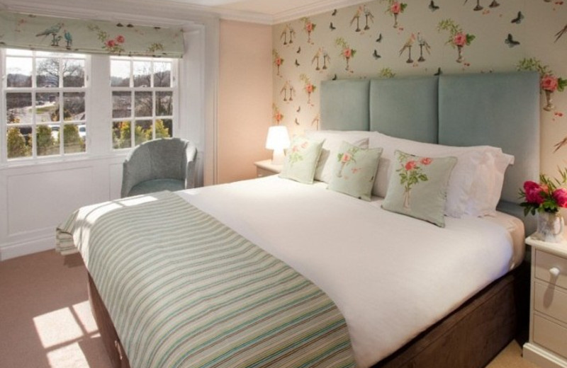 Guest room at Swan Hotel at Newby Bridge.