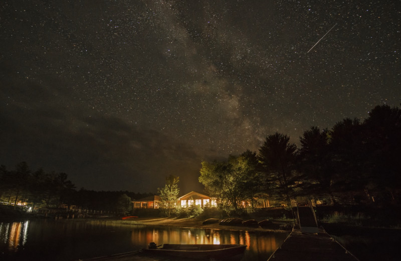 Starry sky at The Lodge at Pine Cove.