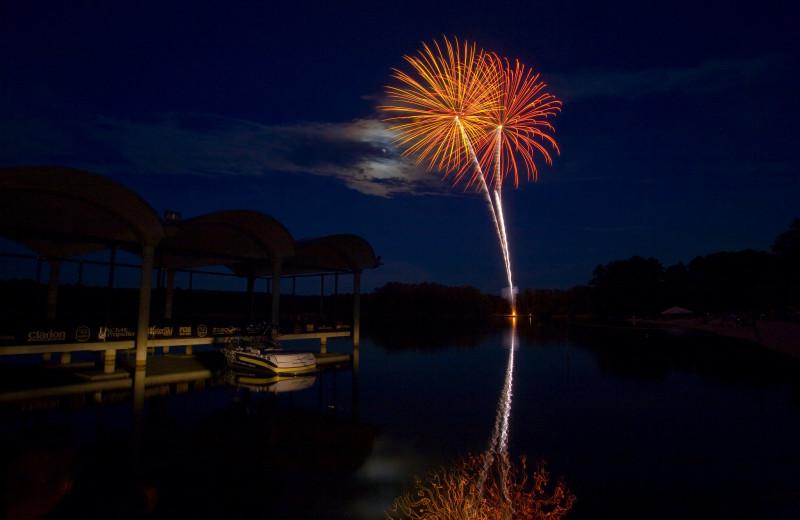 Fireworks at Callaway Gardens.