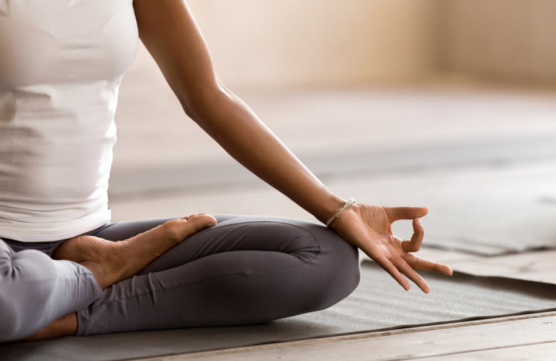 Yoga at The Lodge at Woodloch.