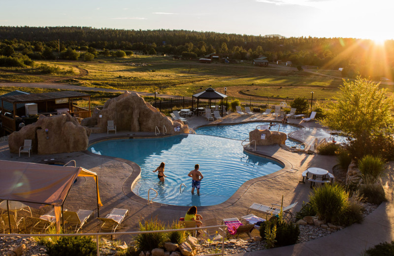 Outdoor pool at Zion Ponderosa Ranch Resort.