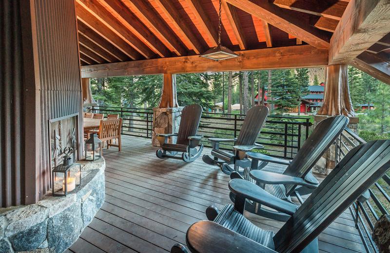 Rental deck at Tahoe Getaways.