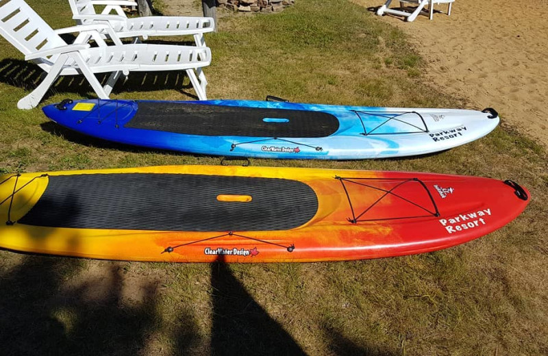 Paddle boards at Parkway Cottage Resort & Trading Post.