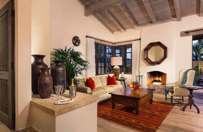 Guest room at Rancho Valencia Resort.