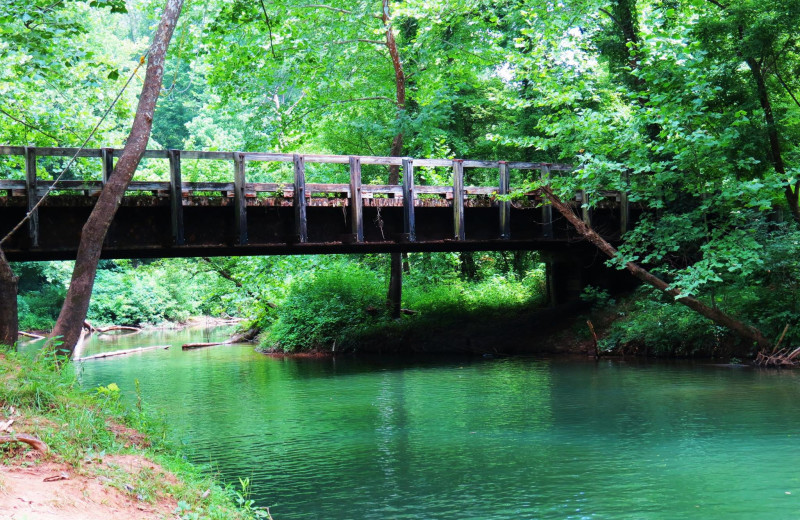 Bridge at Willowbrook Cabins.