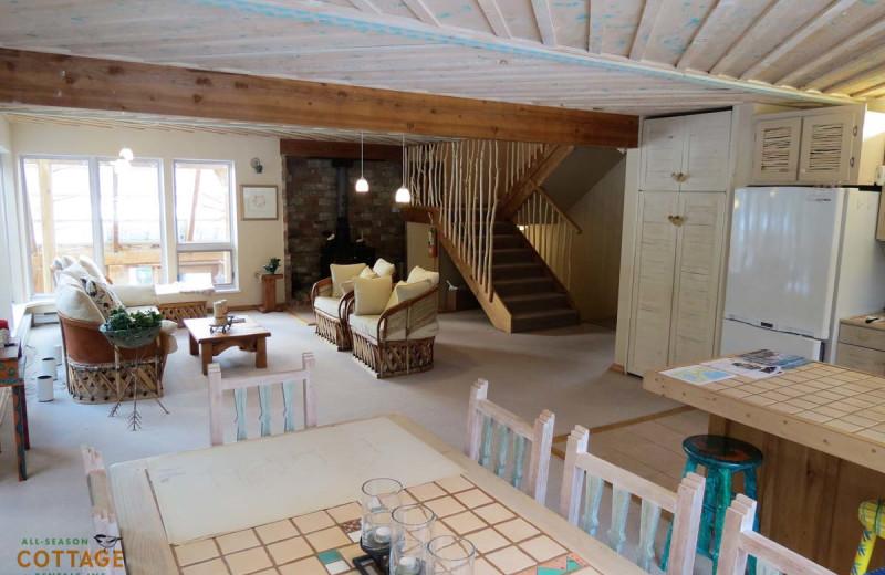 Rental interior at All-Season Cottage Rentals.