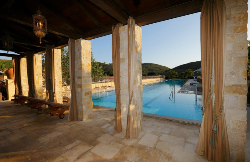 Outdoor pool at Cal-a-Vie.