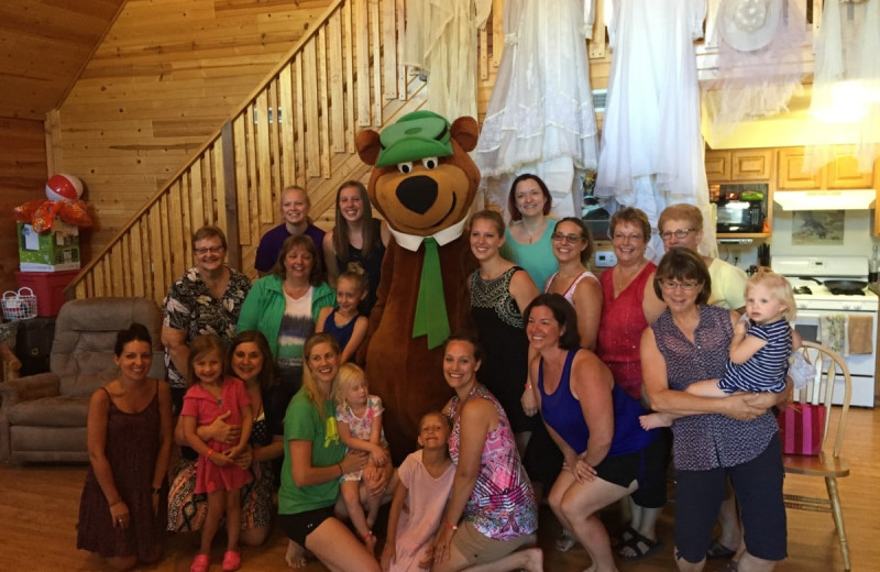 Family at Yogi Bear's Jellystone Park Warrens.