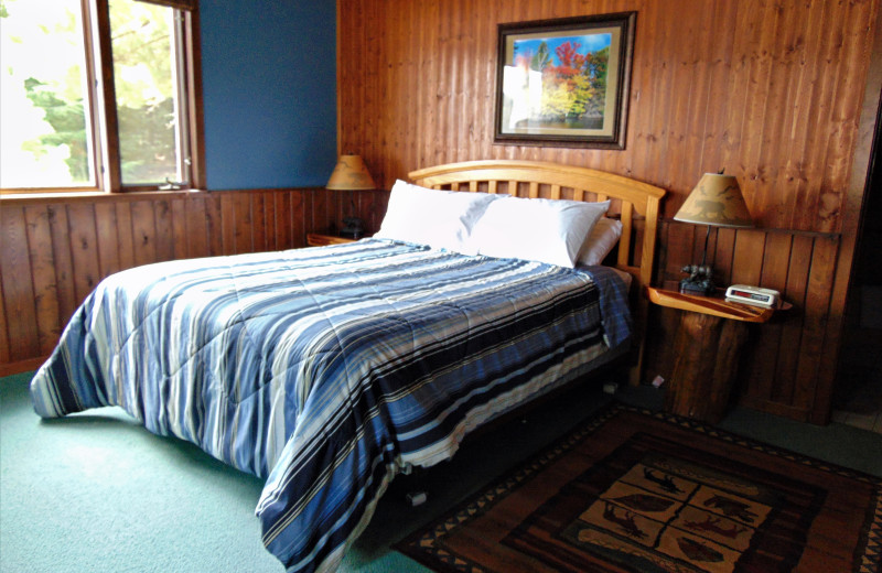 Bedroom at Northernaire Resort.