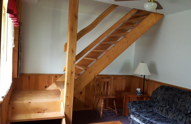 Cabin interior at Sejour Kouchibouguac Resort.