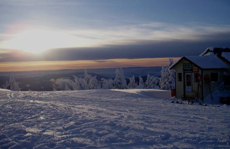 Beautiful winter view at Cahilty Lodge.