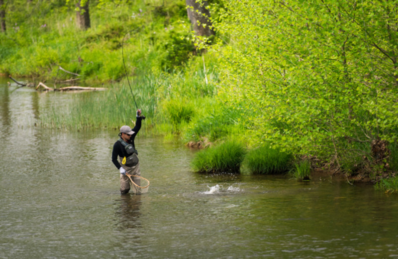 Fly fishing at The Private Collection.