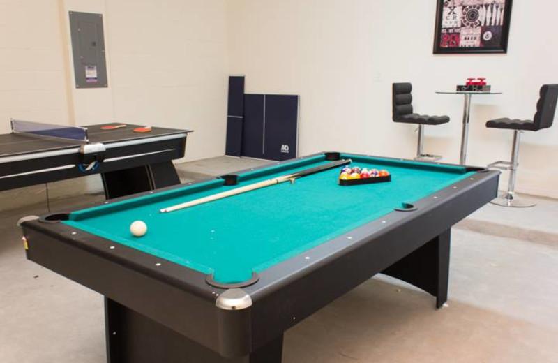 Game Room at Advantage Vacation Homes