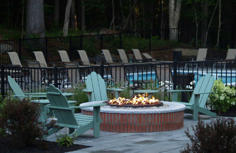 Fire pit at Inn at Diamond Cove.