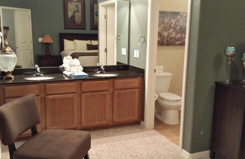 Condo bathroom at Thousand Hills Golf Resort.