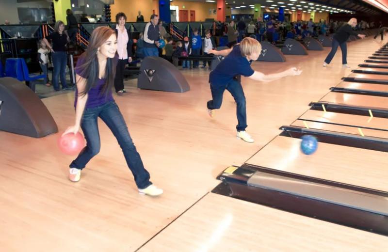 Bowling at Grand Sierra Resort and Casino.