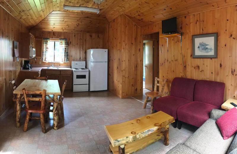 Cabin living room at Southview Cottages Resort.