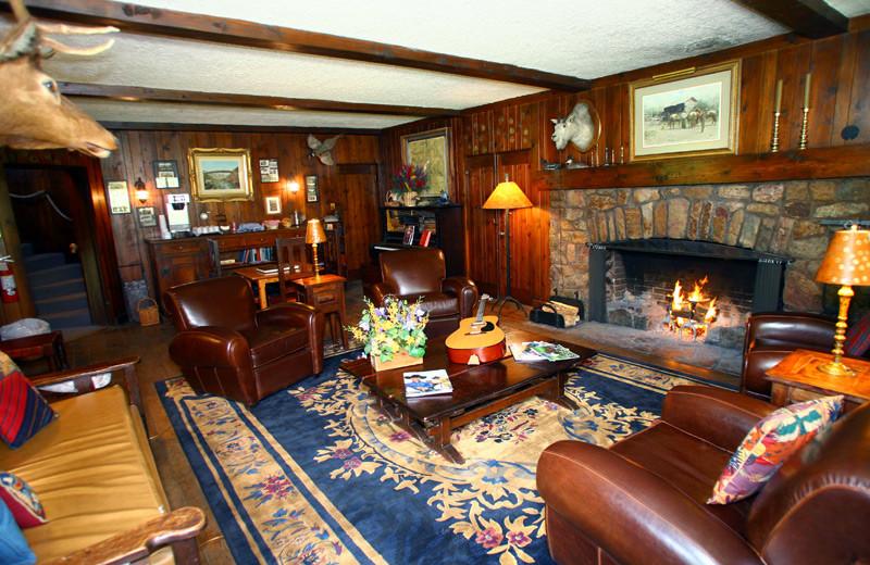 Lounge at Tumbling River Ranch.