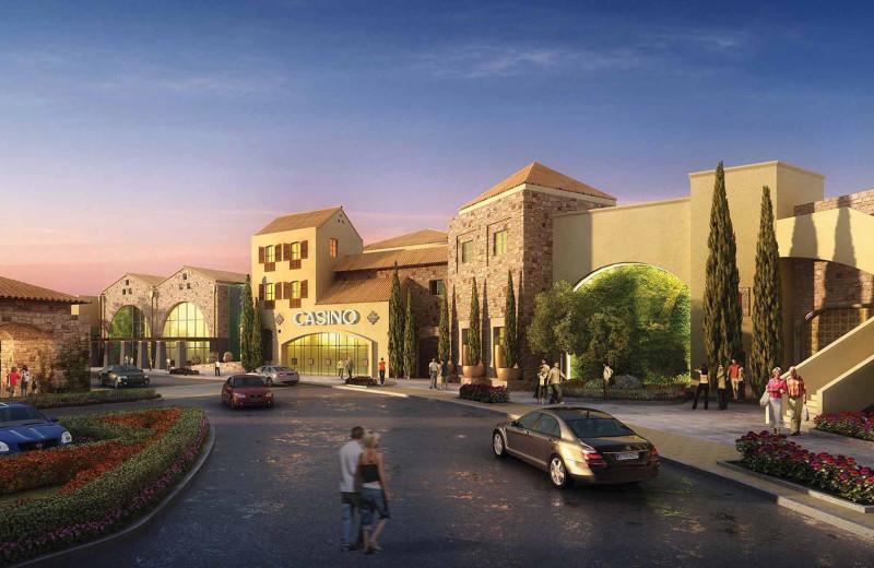 Exterior view of Del Lago Resort & Casino.