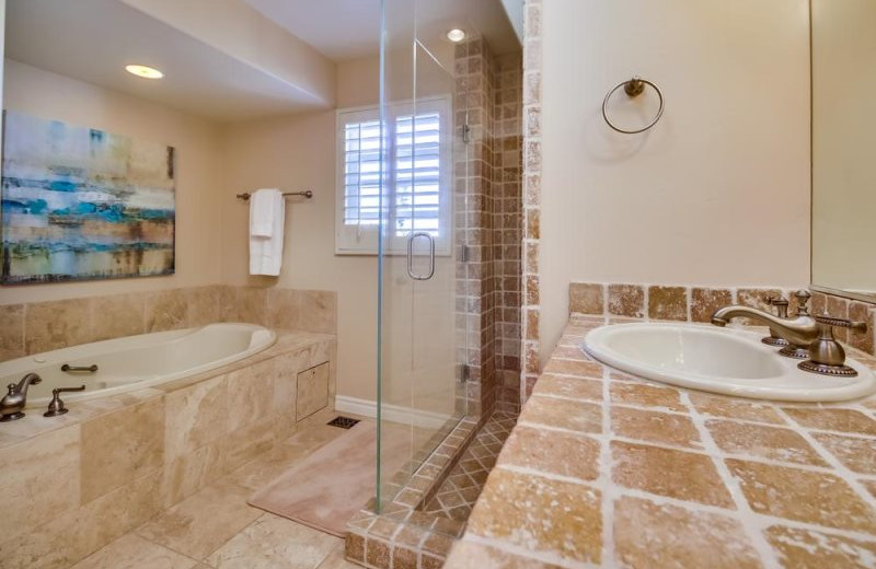 Private Bathroom at Bluewater Vacation Homes