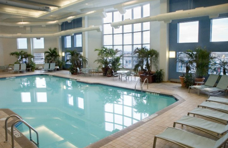 Indoor pool at Hilton Suites Ocean City Oceanfront.