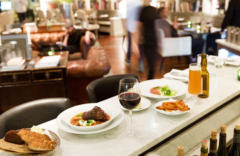 Dining at Lydmar Hotel.