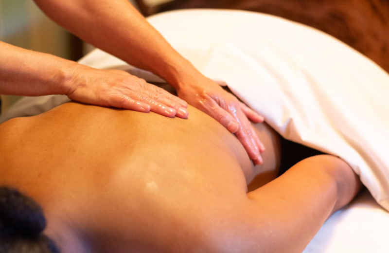Back massage at Deerfield Spa.