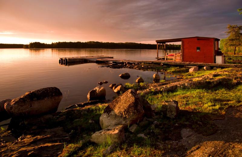 Lake sunset at Uchi Lake Lodge.