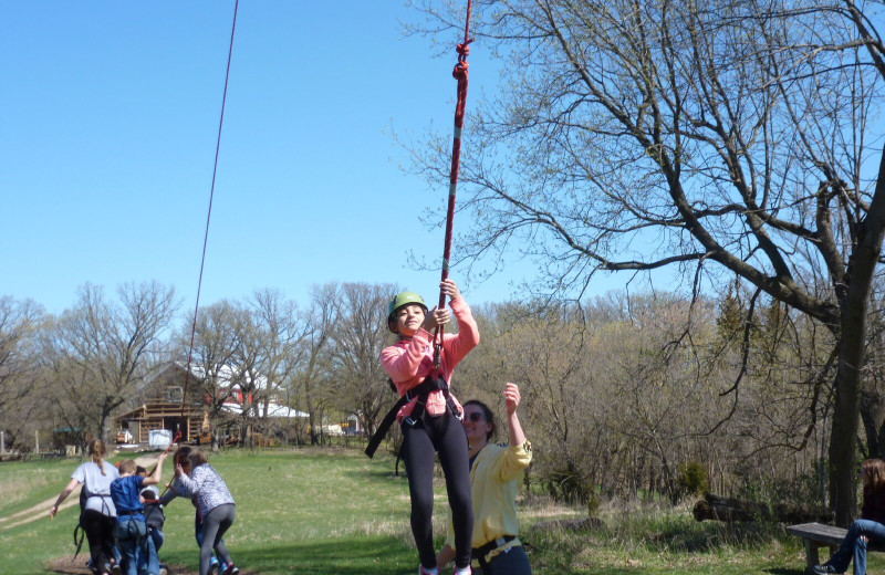 Adventure ropes at Spicer Green Lake Resort.
