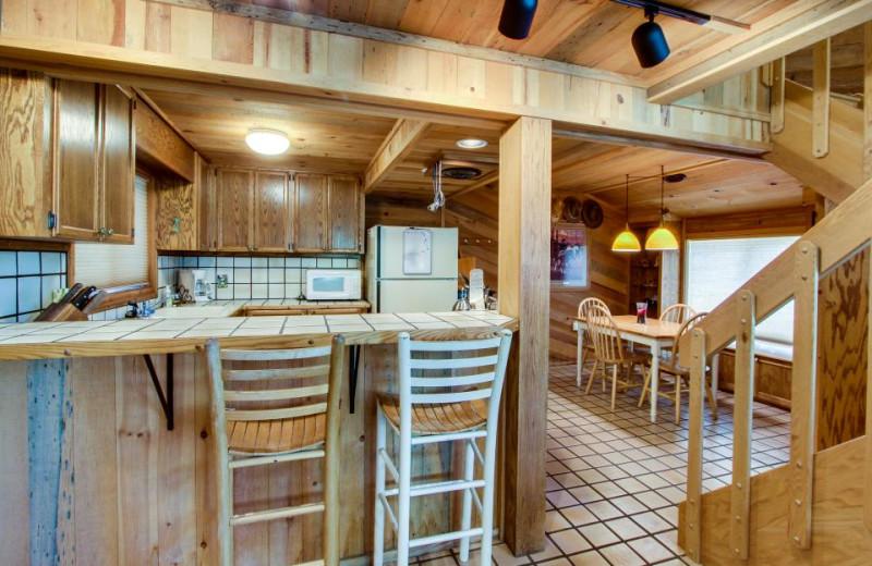 Vacation rental kitchen at Vacasa Rentals Sunriver.